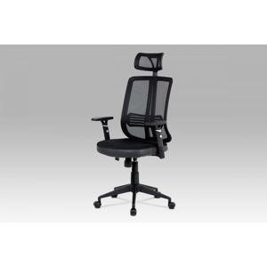 Kancelářská židle, houpací mech., černá MESH, plast. kříž KA-Y177 BK Autronic