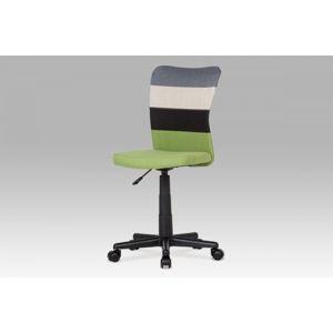 Kancelárska stolička KA-N837 látka / plast Autronic Zelená