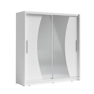 Šatníková skriňa s posuvnými dverami BIRGAMO TYP 2 biela Tempo Kondela