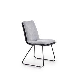 Jedálenská stolička K326 svetlosivá / čierna Halmar