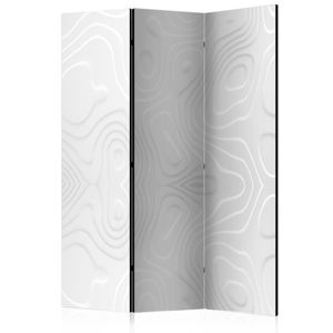 Paraván Room divider - White waves Dekorhome