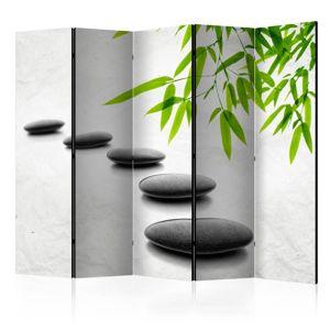 Paraván Zen Stones Dekorhome 225x172 cm (5-dielny)