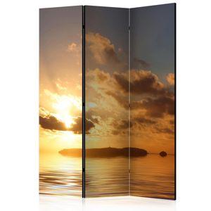 Paraván Sea sunset Dekorhome 135x172 cm (3-dielny)