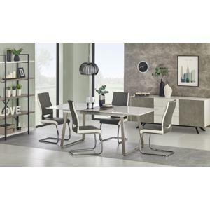 Jedálenský stôl rozkladací 160/200 THOMAS biela / betón Halmar