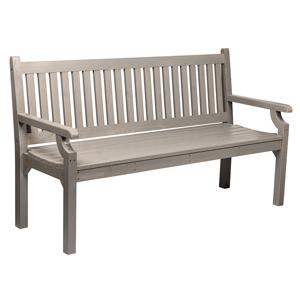 Záhradná lavička KOLNA 124 cm sivá Tempo Kondela