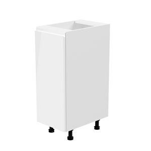 Spodná skrinka AURORA D30 - ľavá Tempo Kondela biela / sivá vysoký lesk