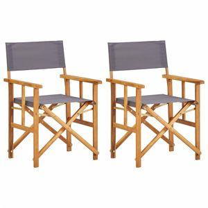 Režisérskej stoličky 2 ks akáciové drevo Dekorhome Sivá