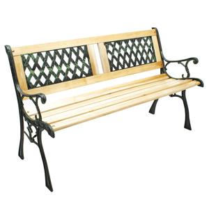Záhradná lavička JADARA drevo / kov Tempo Kondela