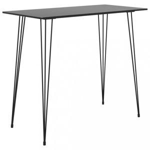 Barový stôl MDF / kov Dekorhome Čierna