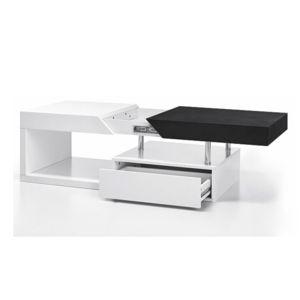 Konferenčný stolík MELIDA  biely lesk / čierné dřevo Tempo Kondela
