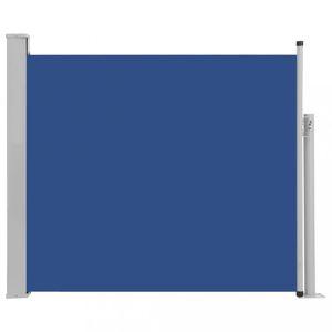 Zaťahovací bočná markíza 100x300 cm Dekorhome Modrá