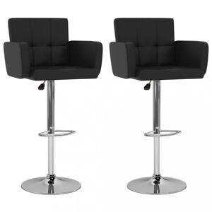 Barové stoličky 2 ks umelá koža / kov Dekorhome Čierna