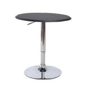 Barový stôl otočný BRANY čierna / chróm Tempo Kondela
