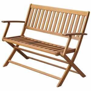 Skladací záhradný lavička 120 cm z akáciového dreva