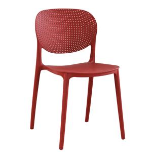 Plastová stolička FEDRA stohovateľná Červená