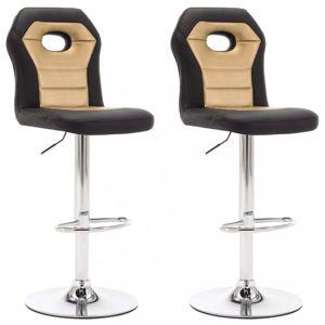Barové stoličky 2 ks umelá koža Dekorhome Zlatá