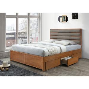 Manželská posteľ BETRA orech / béžová Tempo Kondela 180 x 200 cm