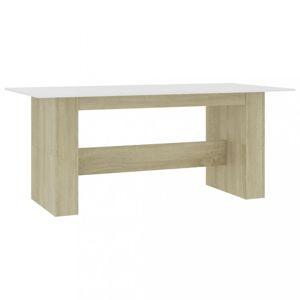 Jedálenský stôl 180x90 cm Dekorhome Dub sonoma / biela