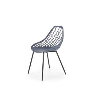 Jedálenská stolička K330 Halmar tmavě šedá