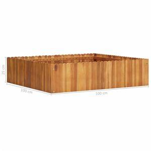 Záhradný kvetináč akáciové drevo Dekorhome 100x100x25 cm