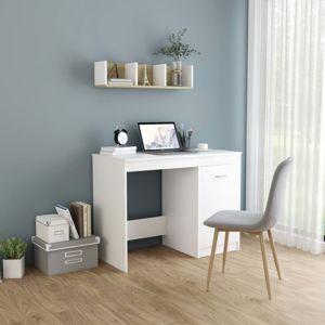 Písací stôl 100x50 cm Dekorhome Biela
