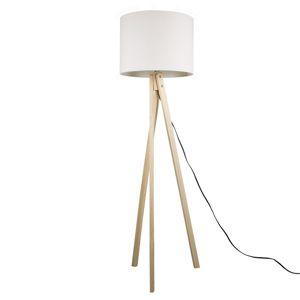 Stojaca lampa LILA Typ 6 biela / prírodné drevo Tempo Kondela