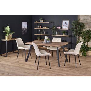 Jedálenský stôl BERLIN rozkladací 140/180 medový orech / čierna Halmar