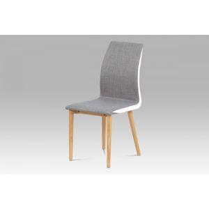 Jedálenská stolička WC-1513B BR2 sivohnedá / biela Autronic