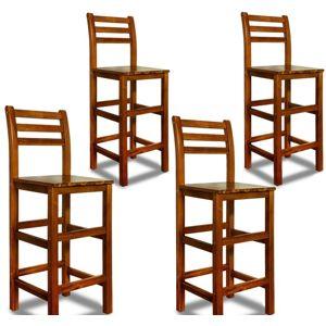 Barová stolička z agátového dreva 4ks D1777 Dekorhome