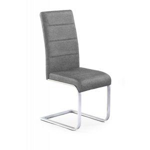 Jedálenská stolička K351 sivá / chróm Halmar