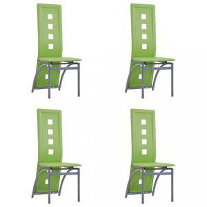Jedálenská stolička 4 ks umelá koža Dekorhome Zelená